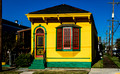 Restored shotgun house in the St. Claude neighborhood