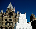Ice castle in downtown Syracuse