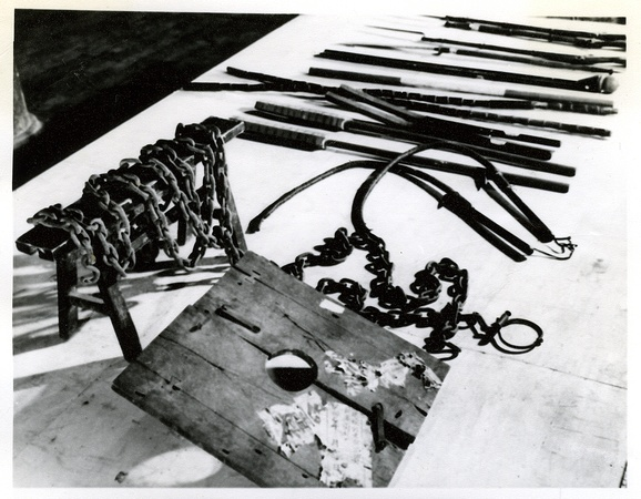 Punishment tools used in the various halls of the Kong residency