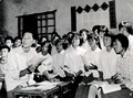 Studying communist propaganda at a people's commune in Chuansha county, Shanghai